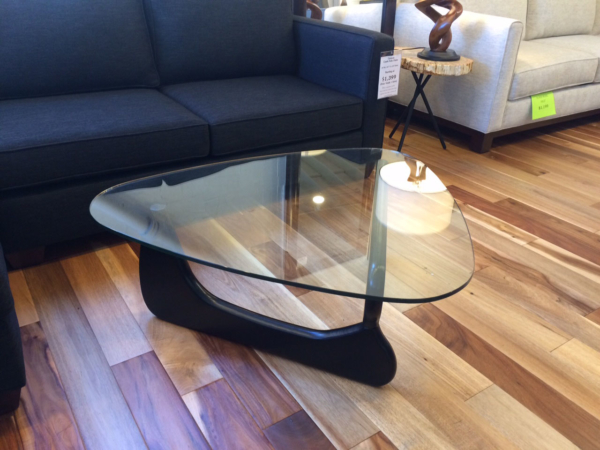 Black Noguchi Inspired Coffee Table Cozy Couch SF - Noguchi inspired coffee table